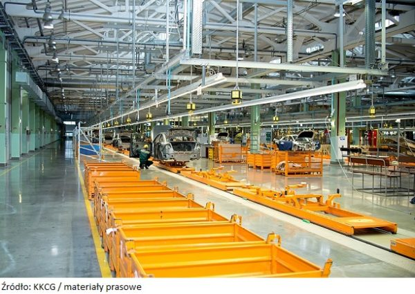 Cherkasy, Ukraine - June 17, 2013:The production line for the assembly of new vehicles