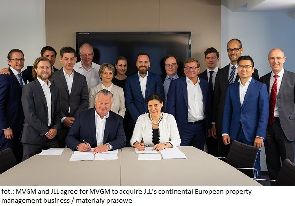 Photo 1 - MVGM and JLL agree for MVGM to acquire JLL's continental European property management business