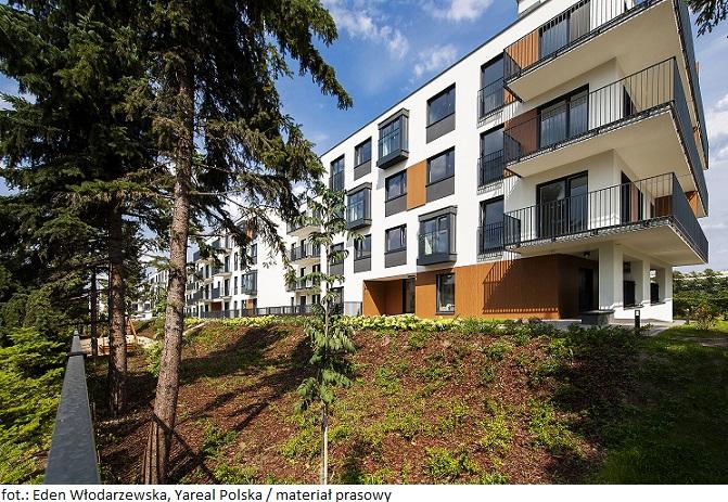 Zielone osiedle Yareal z najwyższą w Polsce oceną BREEAM – końcowy certyfikat dla osiedla Eden Włodarzewska w Warszawie