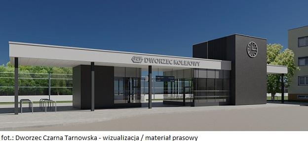 Dworzec Czarna Tarnowska - wizualizacja