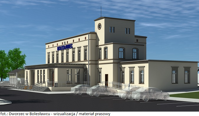 Trwa przebudowa dworca w Bolesławcu, realizowana w ramach Programu Inwestycji Dworcowych na lata 2016-2023
