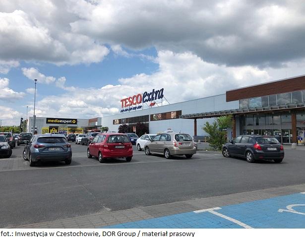 Grupa kapitałowa DOR Group sfinalizowała zakup gruntu i powierzchni handlowej w Częstochowie od sieci Tesco
