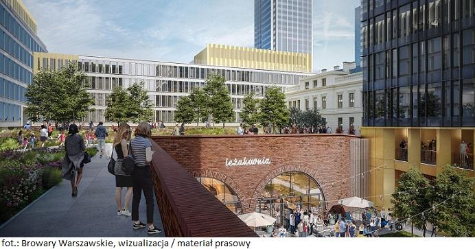 Pięć placów Browarów Warszawskich – nowa przestrzeń publiczna w Warszawie