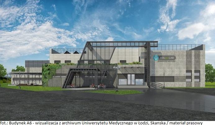 Budynek A6_widok z przodu_wizualizacja z archiwum Uniwersytetu Medycznego w Łodzi