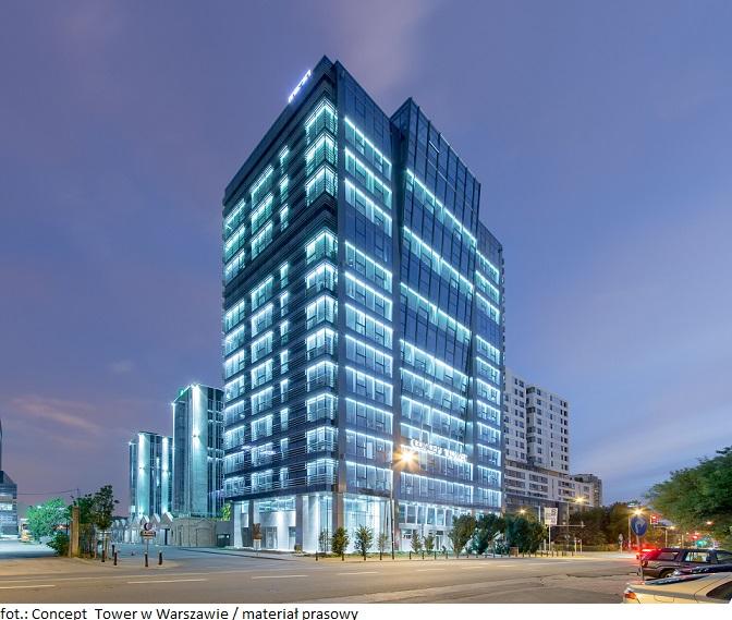 CPIPG sfinalizował transakcję zakupu biurowca Concept Tower w Warszawie
