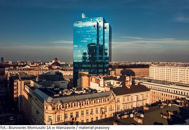 Biurowiec Moniuszki 1A w Warszawie otrzymał certyfikat BREEAM In-Use na poziomie Excellent