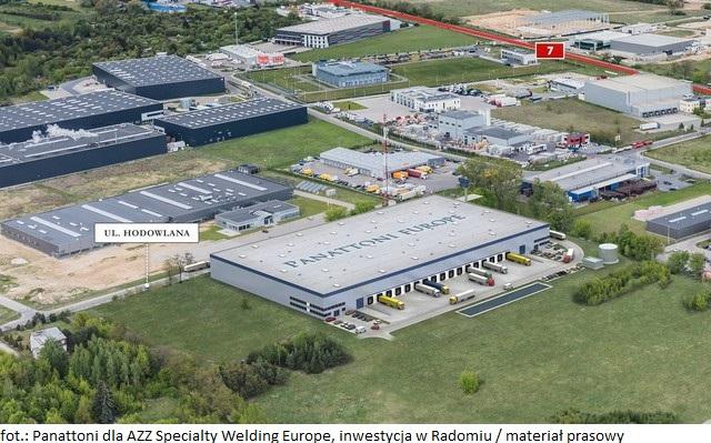 Firma Panattoni buduje dla AZZ Specialty Welding Europe – 12 820 m kw. w Radomiu