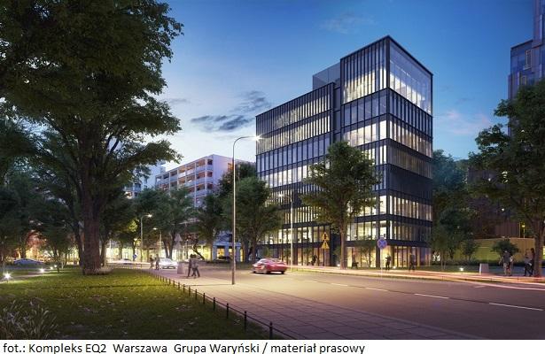 Biurowiec EQ2 w Warszawie na półmetku budowy