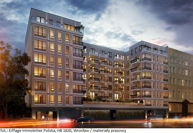 Inwestycja HB 1820 – drugi projekt mieszkaniowy Eiffage Immobilier Polska we Wrocławiu