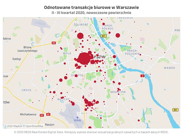 REDD: Nowe rekordy w Warszawie – w nowoczesnych obiektach biurowych w Warszawie wynajęto ok. 220 tys. mkw. powierzchni