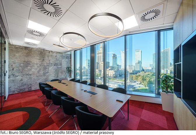 Firma SEGRO zmieniła lokalizację swojego biura w Warszawie, przenosząc się do budynku Centrum Marszałkowska