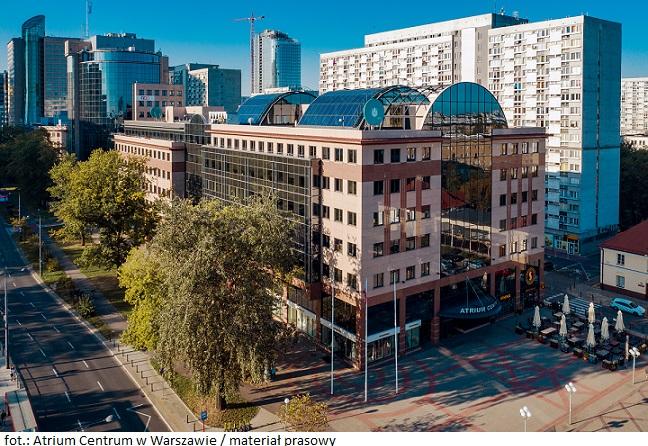 Firma Ashland przeniesie się do biurowca Atrium Centrum w Warszawie