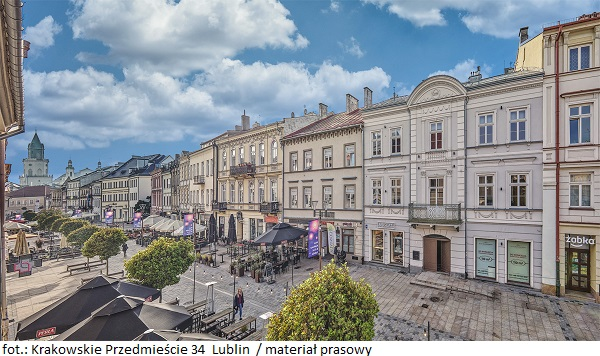 Kamienica Krakowskie Przedmieście 34 w Lublinie z nowymi umowami najmu powierzchni
