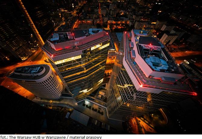 Biurowiec The Warsaw HUB w Warszawie atrakcyjny dla najemców