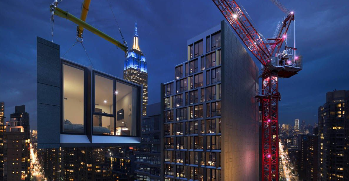Najwyższy na świecie hotel modułowy jest już w drodze ze Skawiny do Nowego Jorku