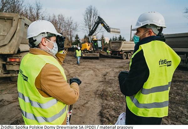 Wystartowała inwestycja PDD w Łodzi – domy powstaną wsystemie Wood Core House