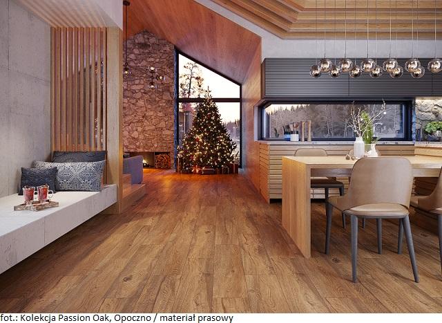 Przytulny dom na Święta i nie tylko – postaw na płytki inspirowane drewnem  z serii Wood Concept od Opoczno