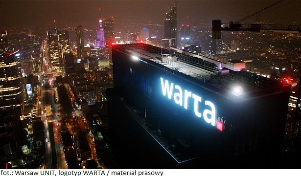 Na szczycie Warsaw UNIT w Warszawie zawisł najwyżej umiejscowiony logotyp w Polsce