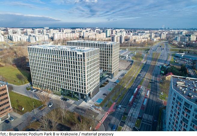 Portfel Globalworth w Krakowie większy o biurowiec Podium Park B