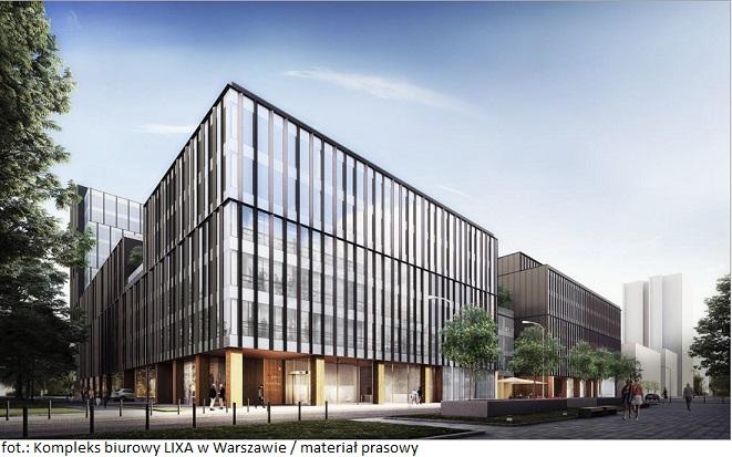 Kompleks biurowy LIXA w Warszawie pod opieką zarządców Knight Frank