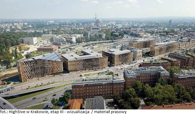 Trzeci etap kompleksu biurowego High5ive w Krakowie z nowym najemcą