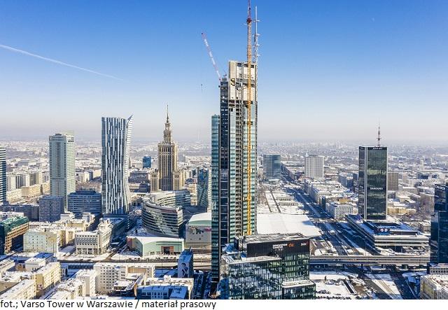 Biurowiec w Warszawie Varso Tower najwyższym wieżowcem w Unii Europejskiej