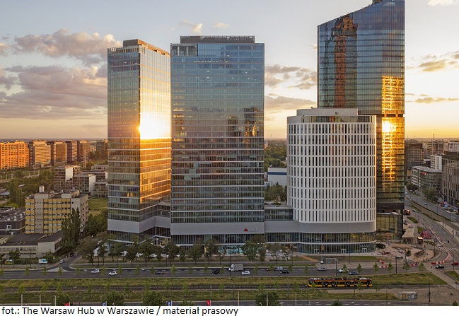 """Kompleks biurowy The Warsaw Hub w Warszawie z """"Award of Excellence"""""""