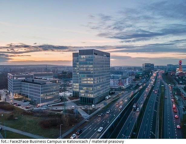 Biurowiec Face2Face Business Campus w Katowicach siedzibą ABB sp. z o.o.