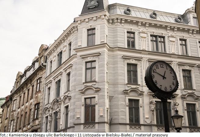 Reprezentacyjna kamienica w Bielsku-Białej zachwyca wyglądem sprzed wieku