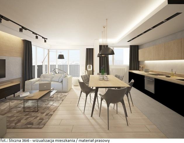 Śliczna 36i6 wizualizacja mieszkanie