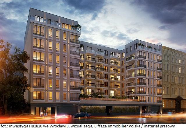 Budowa inwestycji mieszkaniowej HB1820 we Wrocławiu oficjalne rozpoczęta