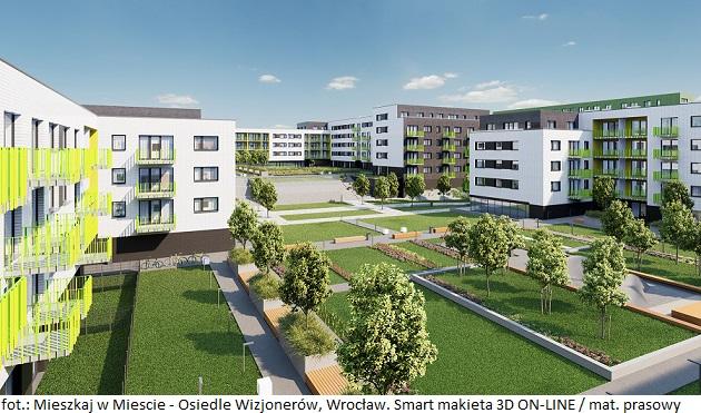 Mieszkaj w Miescie - Osiedle Wizjonerow. Smart makieta 3D ON-LINE 03