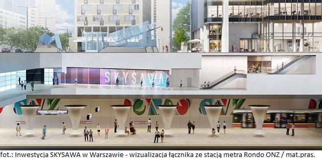 SKYSAWA_łącznik ze stacją metra ONZ