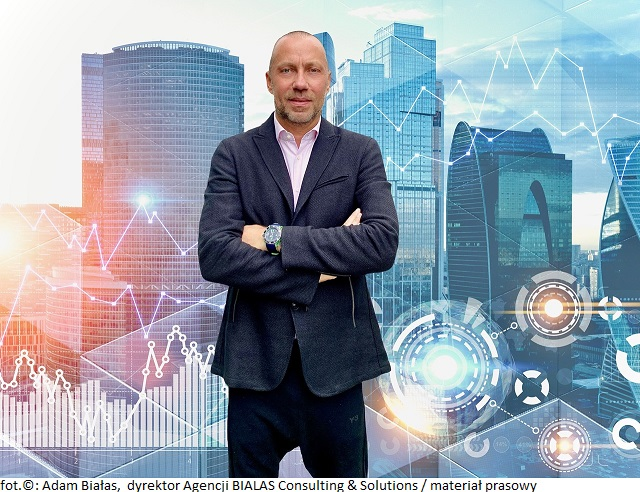 Graphs, diagrams and immersive glowing hud interface over modern cityscape background. Concept of infographics and hi tech inbusiness. Toned image double exposure