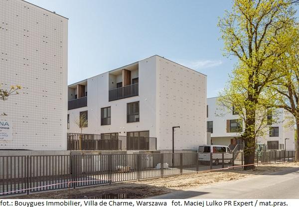 Osiedle mieszkaniowe w Warszawie Villa de Charme gotowe