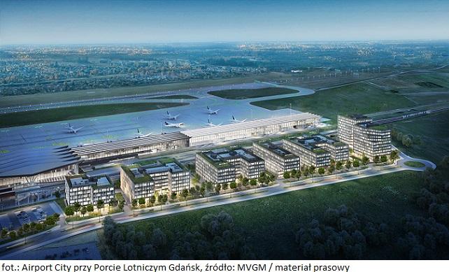 Pierwszy obiekt biurowy z kompleksu Airport City przy Porcie Lotniczym Gdańsk z zarządcą