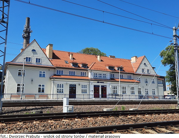 Dworzec Prabuty - widok od strony torów 2