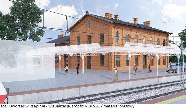 Dworzec w Rzepinie - wizualizacja 2