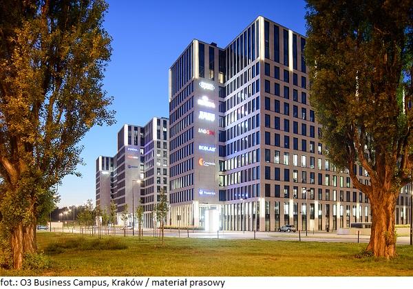 Krakowskie biurowce atrakcyjne dla najemców. Nowa umowa najmu powierzchni w inwestycji O3 Business Campus w Krakowie