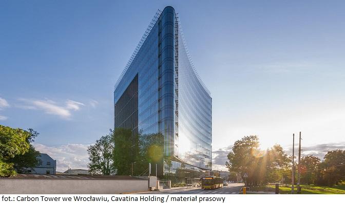 Wrocławski biurowiec Carbon Tower niemal w pełni skomercjalizowany. Do dyspozycji najemców pozostało 6% proc. powierzchni