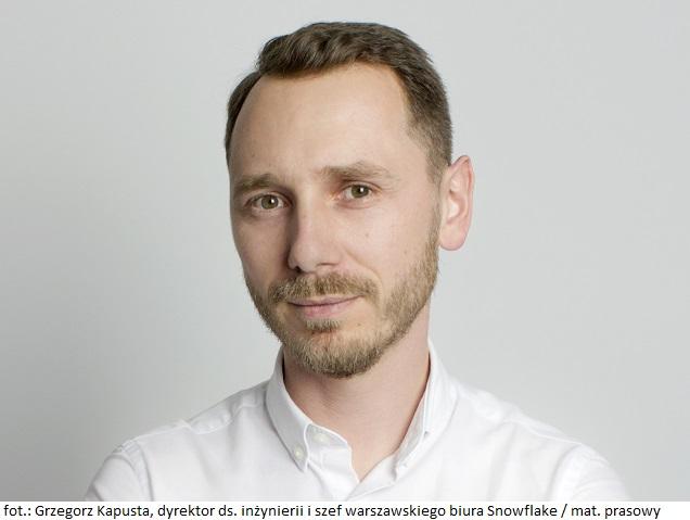 Grzegorz Kapusta_dyrektor ds inżynierii i szef warszawskiego biura Snowflake