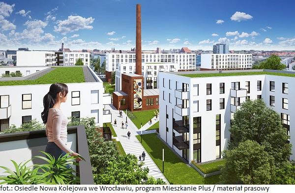 Mieszkanie Plus już we Wrocławiu - rozpocznie się budowa osiedla Nowa Kolejowa