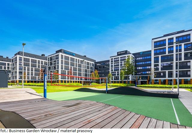 Wrocławski park biurowy Business Garden Wrocław z nowym najemcą, który poszerzy zestaw usług biurowca