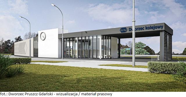 Trwa budowa nowego dworca w Pruszczu Gdańskim