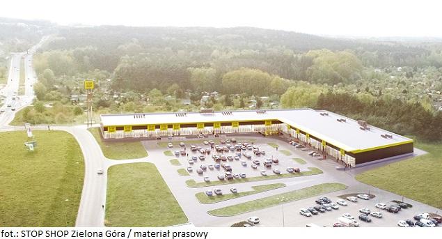 Nowy park handlowy w Zielonej Górze z pozwoleniem na budowę i wykonawcą