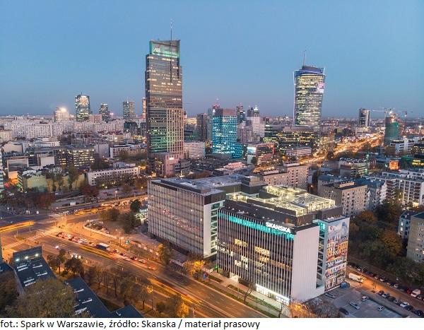 Budynek B warszawskiego kompleksu Spark oraz Generation Park Z z certyfikatem WELL Core&Shell