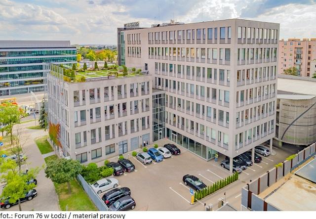 Biurowiec Forum 76 Business Centre w Łodzi z nowymi umowami najmu