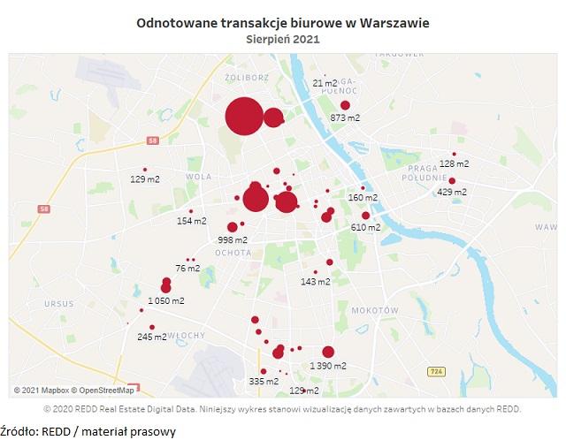 REDD ANALYTICS: w nowoczesnych obiektach biurowych w Warszawie wynajęto około 51 374 m2