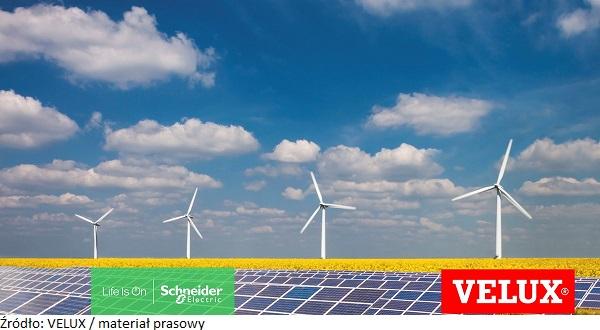 Grupa VELUX osiągnie swoją neutralność węglową do 2030 roku dzięki współpracy z Schneider Electric