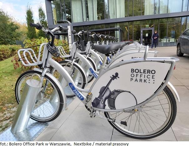 Biurowiec Bolero Office Park w Warszawie z myślą o rowerzystach